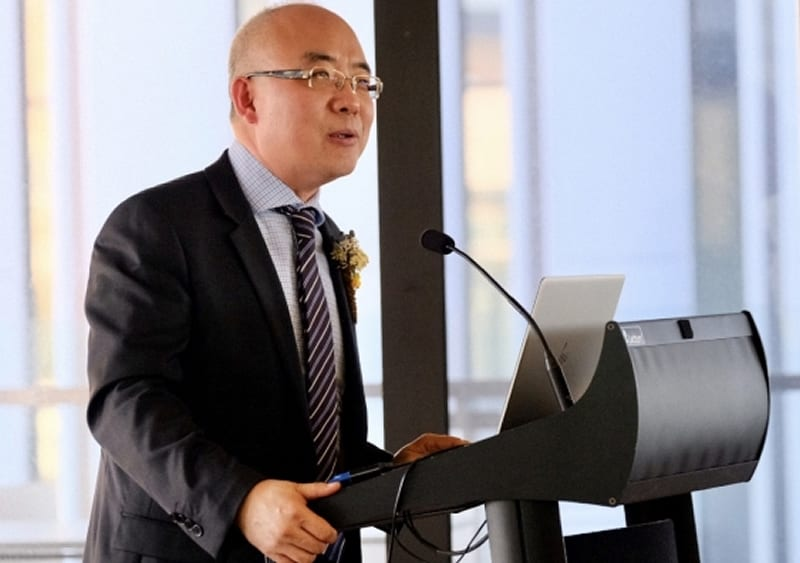 """The potential benefits are endless"": Professor Joe Dong, Director of the UNSW Digital Futures Grid Institute, at the event."