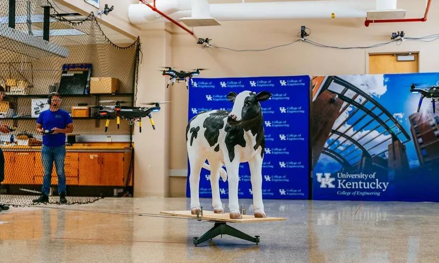 Automated Drones to Monitor Cattle