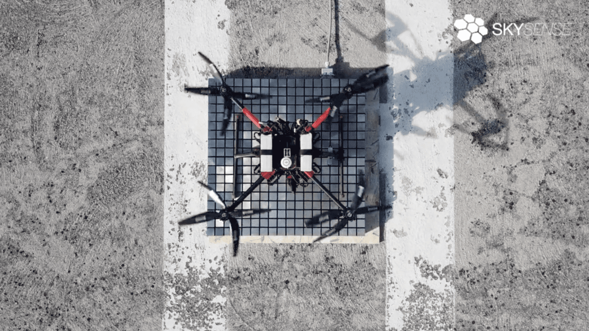 Skysense Announce New High Power Outdoor Drone Charging Pad