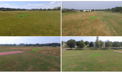 Examples of UAV detection in outdoor tests.