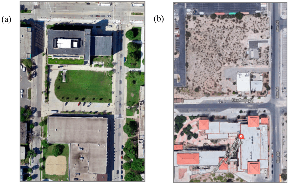 Using Drones to Evaluate Urban Land Surface Temperatures